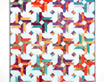 """Give It A Whirl!    BY: Sam Hunter     2-1/2"""" Strip Friendly Pattern In 2 Sizes"""