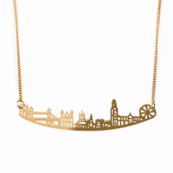 Necklace Women, City Necklace, London Eye Necklace, Unique Necklaces For Women, Necklace For Her, London Gifts, Girlfriend Necklace