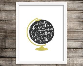 Seek First His Kingdom - Digital Print File