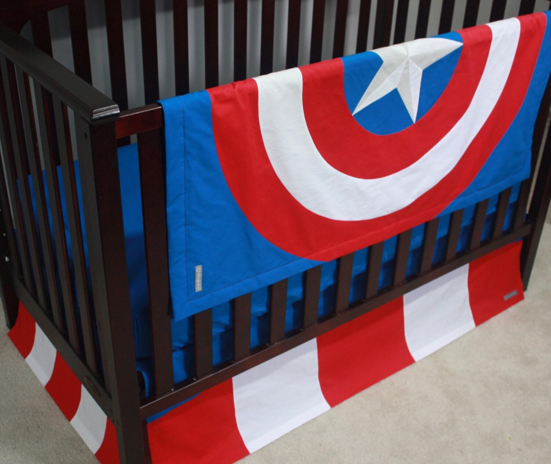 marvel avengers baby bedding--captain america--custom crib bedding-mto