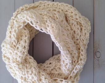 Luxury Cream Crochet Cowl