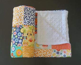 Girl Patchwork Minky Blanket