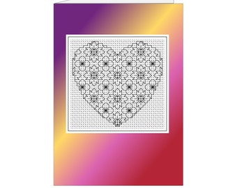 Blackwork Hearts & Flowers  PDF