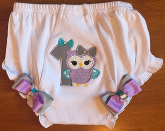 Owl 1st Birthday Diaper Cover