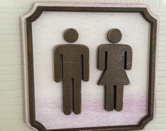 Toilet door sign - Male, Female, Disabled, Baby Change