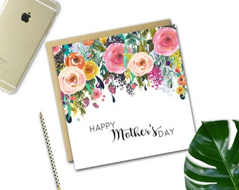 Mother's Day Card {FLORAL DROP}