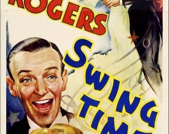 Fred Astaire Ginger Rogers Swing Time Movie Poster A3 Reprint