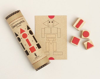 Geometric stamps set