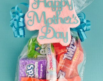Mother's Day Theme Candy Favor Treat Gift Bag Tag