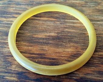 Vintage Gold Moonglow Lucite Bangle