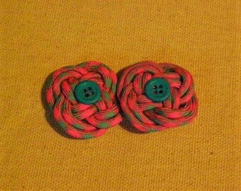 Pink/Blue Paracord Barrettes