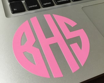 Monogram Decal for Laptop | Lots of Colors and Styles!