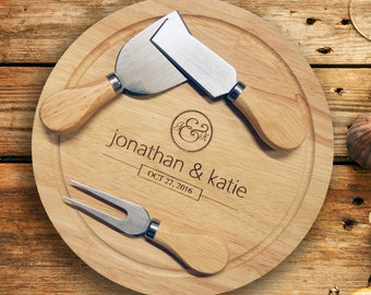 His & Hers Cheese Board. Valentines Gift,Wedding Gift, Anniversary Gift or new home gift.