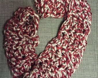 Purple and Grey Infinity Scarf