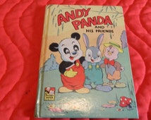Vintage Andy Panda and His Friends Book From 1949 in Very Good Vintage Condition.