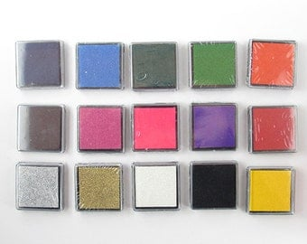 Colourful Small Stamp Pads 4x4cm Ink Pads