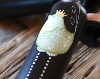 Linda the hen - e-pattern in English to paint a bottle - ENGLISH VERSION