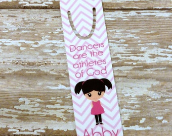 Girls Bookmark - Dancer gift - Personalized Bookmark