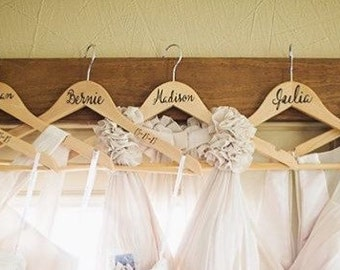 Bridesmaid's Decals - Names for Bridesmaid's Dress Hangers