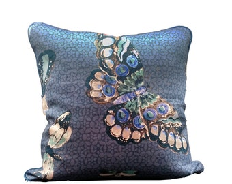 A Pair of Butterfly Pillowcases, Jim Thompson Pillow Cover,Decorative Pillow,Throw Pillow,Cushions,Prints
