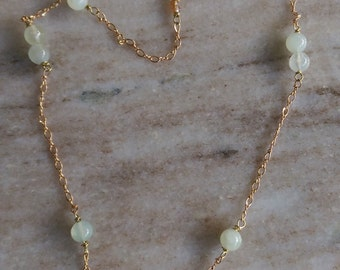 Golden Jade Necklace