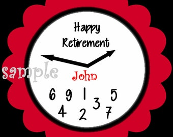 12 Personalized Retirement Stickers, Gifts, Present, , Labels, Seals, Favors