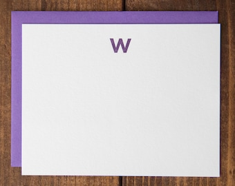 Instock Monogram Letterpress Notecards - Set of 10