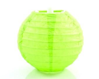 MINI PAPER LANTERN - Lime Green Mini Paper Lantern (10cm / Approx 4 Inch Diameter)