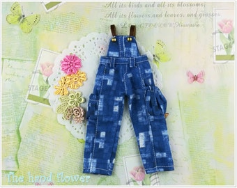Lovely soft fabric Jean overall for Blythe.