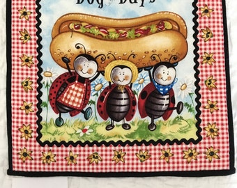 Bugs Picnic Hot Pad Set - Ants, Lady Bugs & Honey Bees Have Joined the Fun - FREE Shipping