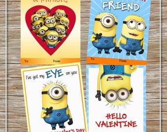 Minion Valentine | Etsy