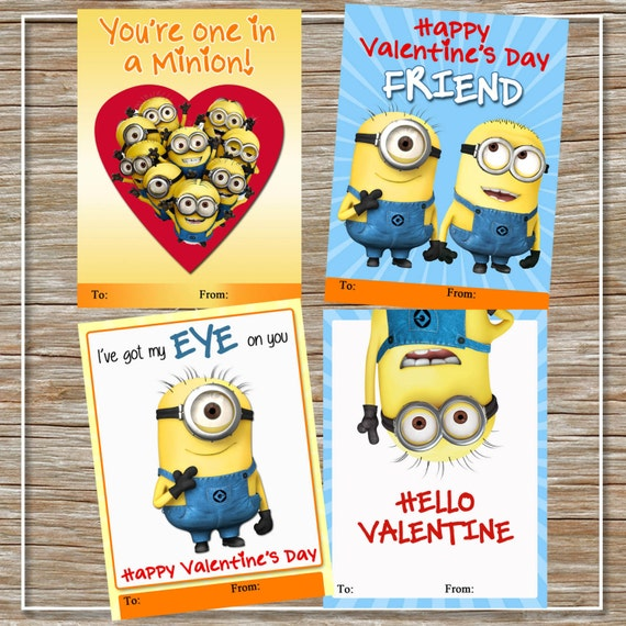 Minion valentines day cards