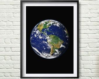 Photo art decor, Earth, Instant download. Digital Print. Wall Decor. Poster Digital Art. Earth Home wall Art. Home Decor *59*
