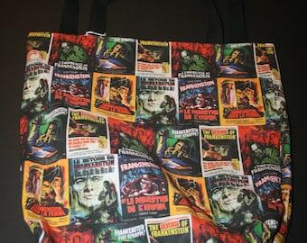 Hammer Frankenstein Tote Bag