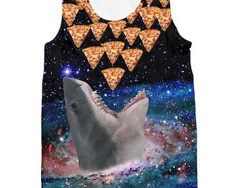 Galaxy Shark Pizza Tank Top