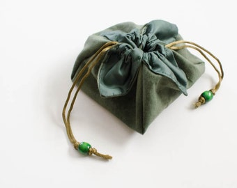 Green Lotus Dice Bag