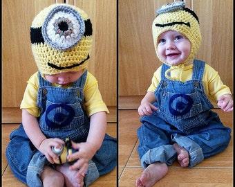 Crochet MINION earflap hat