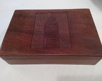 Jewelry box wood box trinket box big Ben wooden box