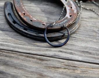 Enameled Recycled Retaining Ring Necklaces (LARGE)