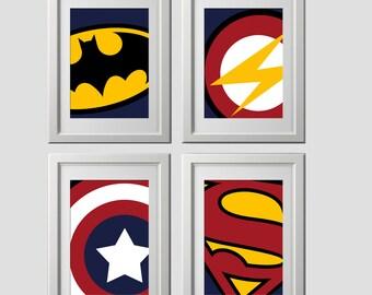 Beau Superhero Wall Art Prints, Super Hero Wall Art Prints, High Quality Prints  Shipped To