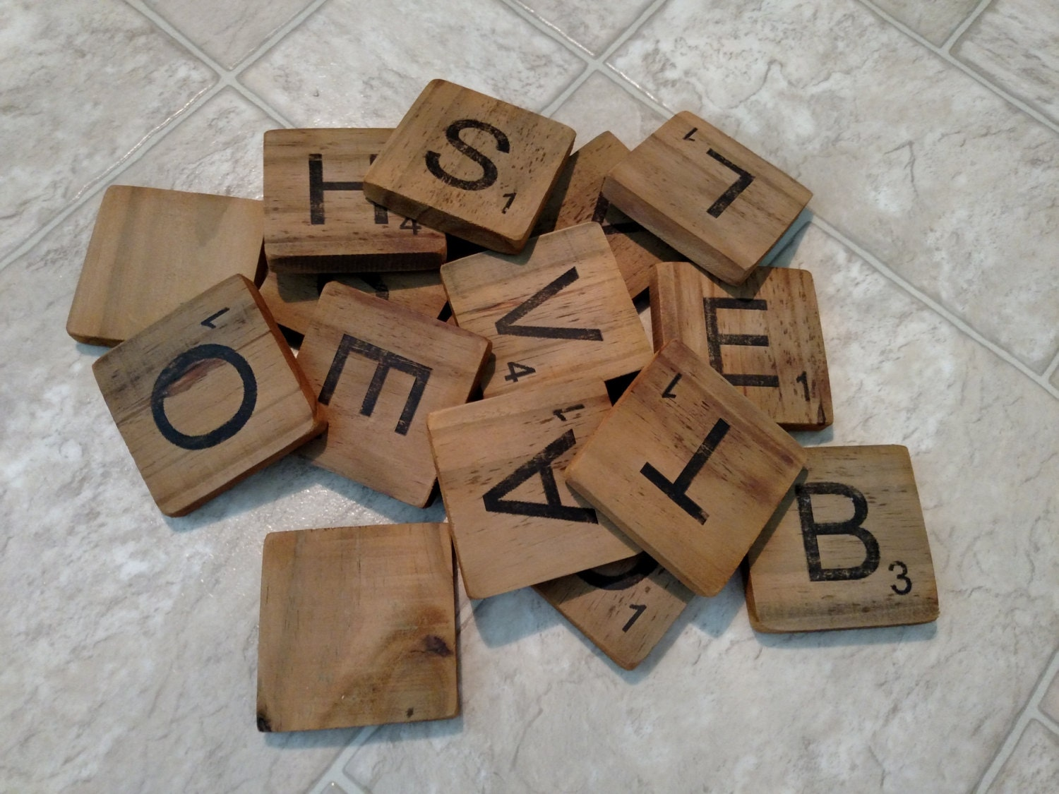 Personalized scrabble tiles 35 large wood tiles zoom dailygadgetfo Gallery