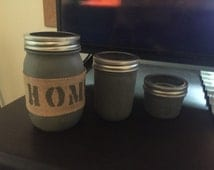 3 piece mason jar set
