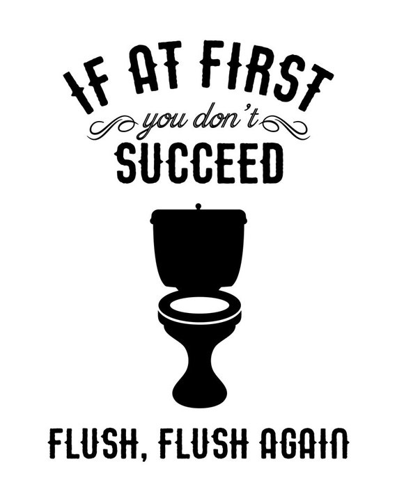 flush again bathroom printable funny bathroom print