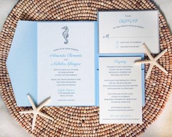 Beach Wedding Invitation Suite - Sample