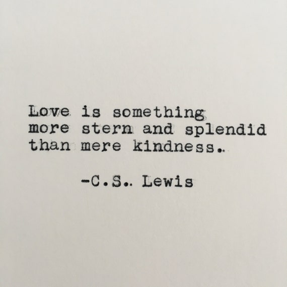 Cs Lewis Quotes New Beginning: C.S. Lewis Love Quote Typed On Typewriter 4x6 White