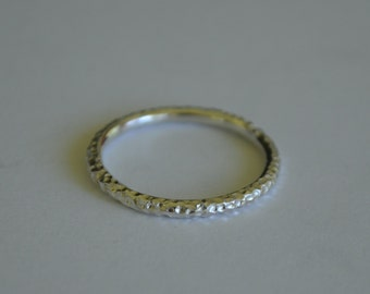 textured sterling silver delicate Bangle