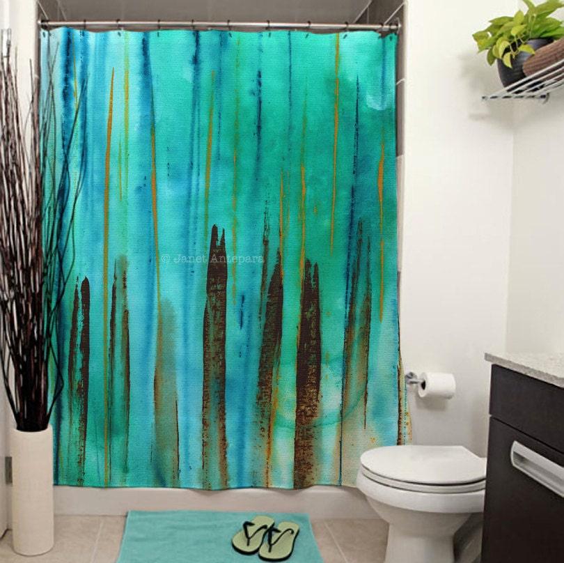 Beach Fence Printed Shower Curtain Bathroom Decor Home