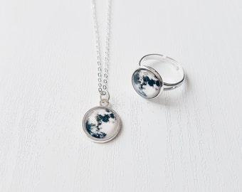 Full Moon Ring Necklace | Gift Idea | Bohemian Jewellery | Celestial | Moon Jewelry
