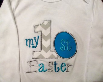 Baby Boy Easter Outfit, Boy 1st Easter Bodysuit, Boy My 1st Easter Bodysuit, Boy My First Easter Bodysuit, Boy First Easter Bodysuit