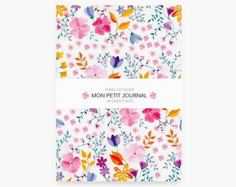 Notebook, journal, diary, gift, floral, A6, handmade, stationery, carnet, rose, fleurs,flowers, Tagebuch, Notizbuch